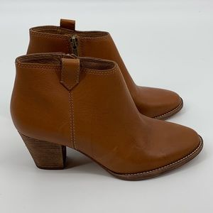 Madewell The Billie Leather Ankle Boots